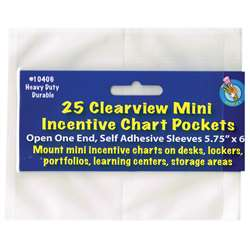 "Clear View Self-Adhesive 25/Pk Pocket Mini Incentive Chart (5 3/4"" X 6"") By Ashley Productions"