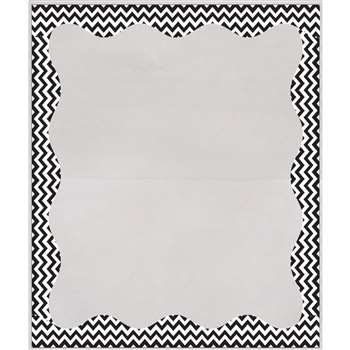 Blk Chevron Border 3 1/2 X 5 Clear View Self Adhes, ASH10411