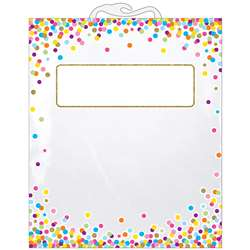 6 Pack Storage Bag Confetti Pattern Hanging, ASH10566