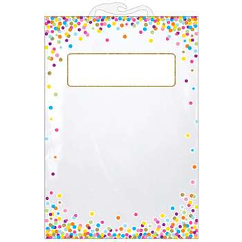 5 Pack Storage Bag Confetti Pattern Hanging, ASH10585
