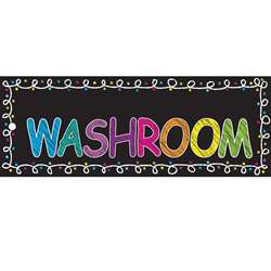 Laminated Hall Pass Chalk Washroom, ASH10625