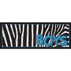 Boys Pass 9X35 Zebra 2 Sided Laminated, ASH10642