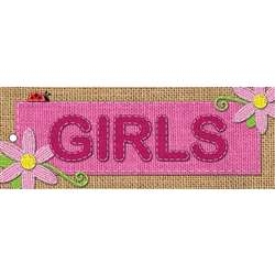 Laminated Hall Pass Burlap Girls, ASH10647