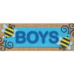 Laminated Hall Pass Burlap Boys, ASH10648