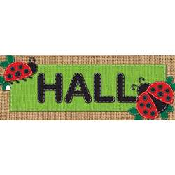 Laminated Hall Pass Burlap Hall, ASH10649