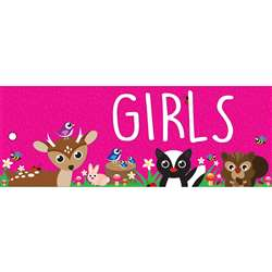 Girls Pass Woodland Kritters 2 Side Laminated 9X35, ASH10650
