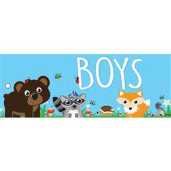 Boys Pass Woodland Kritters 2 Sided Laminated 9X35, ASH10651