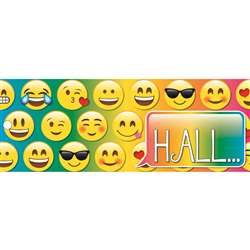 Laminated Emoji Hall Pass, ASH10665