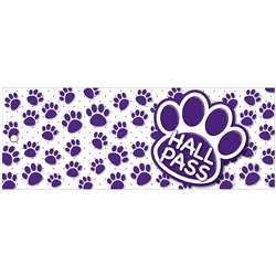 Hall Pass Purple Paws Lrg 2 Sd Laminated Print 35X, ASH10678