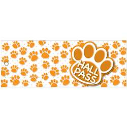Hall Pass Orange Paws Lrg 2 Sd Laminated Print 35X, ASH10684