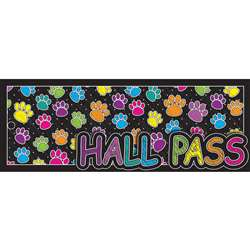 Laminated Hall Pass Colored Paws, ASH10686