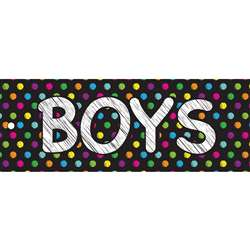Boys Pass 9X35 Chalk Dots Laminated, ASH10691