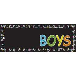 Laminated Hall Pass Chalk Boys Pass, ASH10721