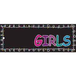 Laminated Hall Pass Chalk Girls, ASH10722