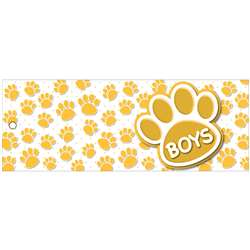 Boys Pass 9X35 Gold Paws 2 Sided Laminated, ASH10731