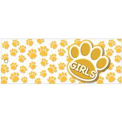 Girls Pass 9X35 Gold Paws 2 Sided Laminated, ASH10732