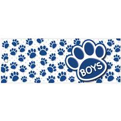 Boys Pass 9X35 Blu Paws 2 Sided Laminated, ASH10735