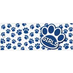 Girls Pass 9X35 Blu Paws 2 Sided Laminated, ASH10736