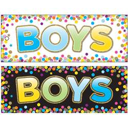 Boys Pass 9x35 Confetti Laminated 2 Sided, ASH10748