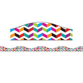 Big Magnetic Border Multi Color Chevron, ASH11106