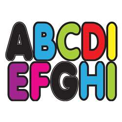"Assorted Colors 2-3/4"" Designer Magnetic Letters, ASH17012"