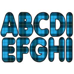"275"" Blue Plaid Designer Magnetic Letters, ASH17024"