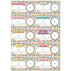Magnets Confetti Schedule Cards Die Cut, ASH19009