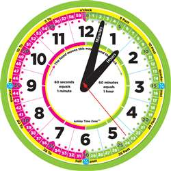 "12"" Advanced Instruction Clock Time Zone, ASH50201"