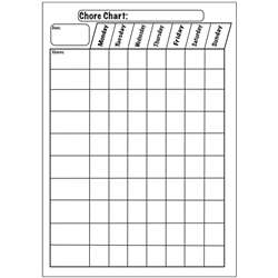 Big Magnetic Plain Chore Chart 12X15, ASH70003