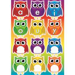 Owls with Vowels Magnetic Mini Bulletin Board Set, ASH77009