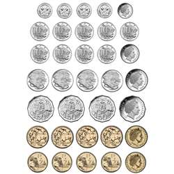 Magnetic Australian Coin 8X11 34 Pc Set Die Cut Sh, ASH77818
