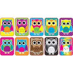 Color Owls Mini Whiteboard Erasers Non Magnetic, ASH78007