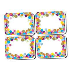 Mini Erasers Confetti Pattern 10 Pack Non Magnetic, ASH78008