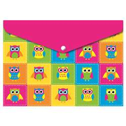 Decorated Poly Folder Color Owls, ASH90002