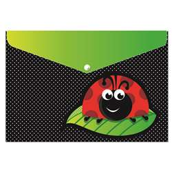 Decorated Poly Folder Ladybug, ASH90003