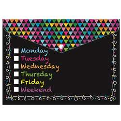 Poly Folder Chalk Days Of The Week Decorated, ASH90006