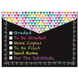 Decorated Poly Folder Chalk Tasks, ASH90007