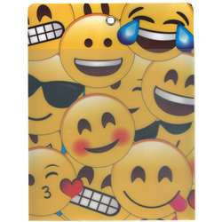 12Pk Pocket Emojis W Grommett Hole Poly Clear Fron, ASH90252