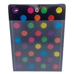 12Pk Pocket Chalk Dot Grommett Hole Poly Clear Fro, ASH90253