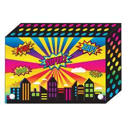 "Super City Index Card Boxes 3X5"" Decorated Poly, ASH90300"