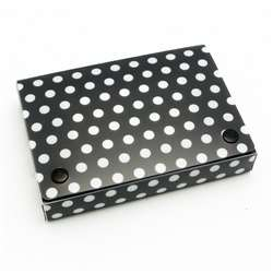 "Bw Dots Index Card Boxes 3X5"" Decorated Poly, ASH90301"