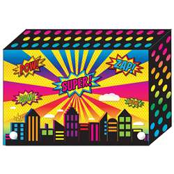 "Super City Index Card Boxes 4X6"" Decorated Poly, ASH90400"