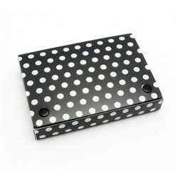 "Bw Dots Index Card Boxes 4X6"" Decorated Poly, ASH90401"