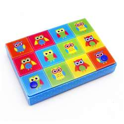 "Color Owls Index Card Boxes 4X6"" Decorated Poly, ASH90402"