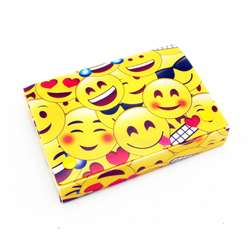 "Emojis Index Card Boxes 4X6"" Decorated Poly, ASH90403"