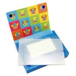 5 Pack Index Card Holder 4X6 Owls, ASH90452