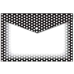 6 Pack Folder with Snap Black & White Dots 95X13, ASH90605