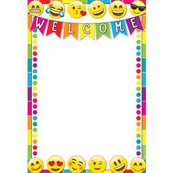 Emoji Welcome 13X19 Smart Chart Poly, ASH91004