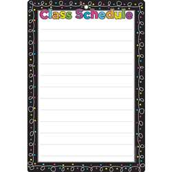 Chalk Dots with Loops Class Schedule Chart Dry-Era, ASH91050