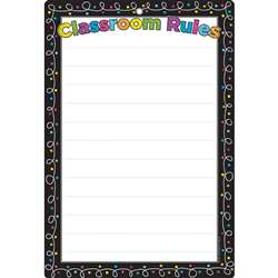Chalk Dots with Loops Classroom Rules Dry-Erase Su, ASH91051